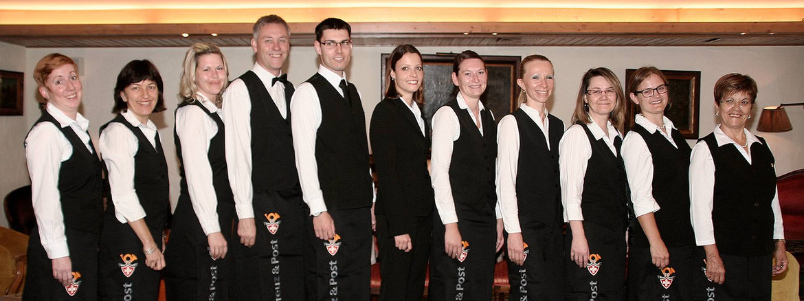 The motivated team at Hotel Grindelwald Kreuz & Post