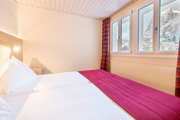Junior Suite North with view over the Eiger